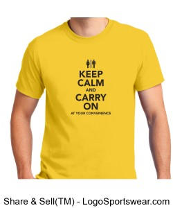 Keep Calm and Carry On T-shirt Design Zoom